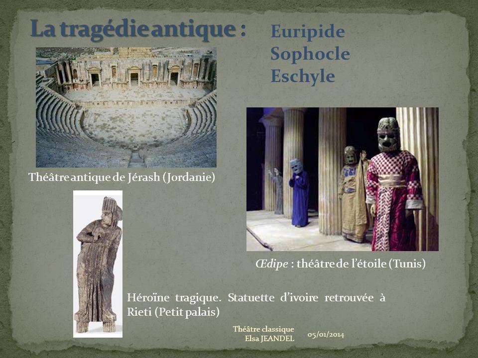 05/01/2014 Théâtre classique Elsa JEANDEL Théâtre antique de Jérash (Jordanie) Œdipe : théâtre de létoile (Tunis) Héroïne tragique. Statuette divoire