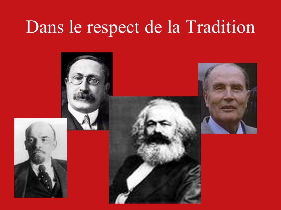 Dans le respect de la Tradition