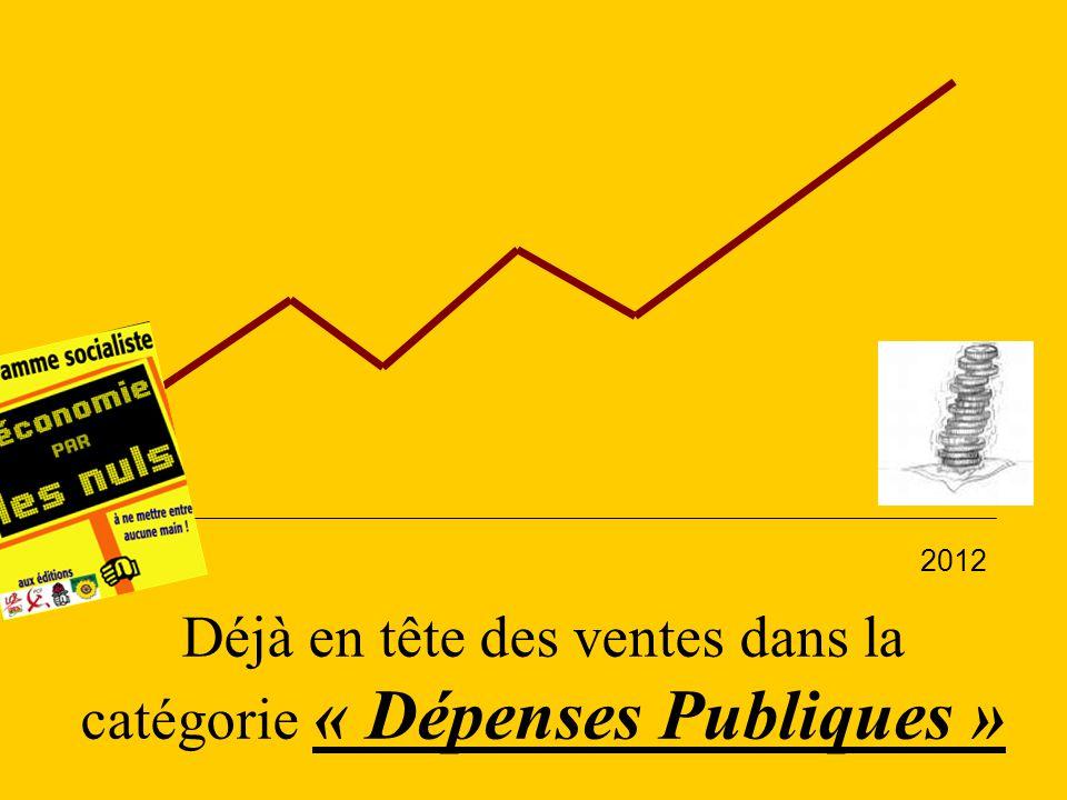 Déjà en tête des ventes dans la catégorie « Dépenses Publiques » 2007 2012