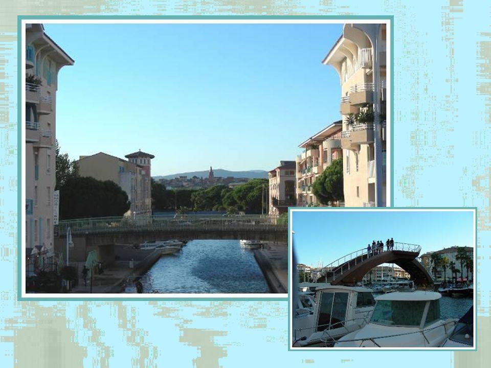 Port-Fréjus fut créé en vue de redonner à la ville un port tel quelle le connaissait du temps des Romains mais aussi dembellir la façade de Fréjus-Plage et de prolonger le centre urbain par la création, en bord de mer, dun espace jalonné dactivités commerciales, culturelles et de loisirs.