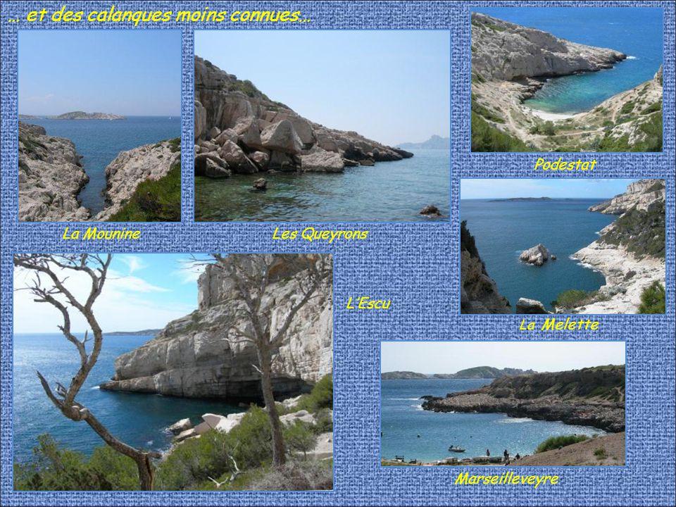 Il y a dans le massif des paysages célèbres… MorgiouEn Vau Sugiton Callelongue Sormiou