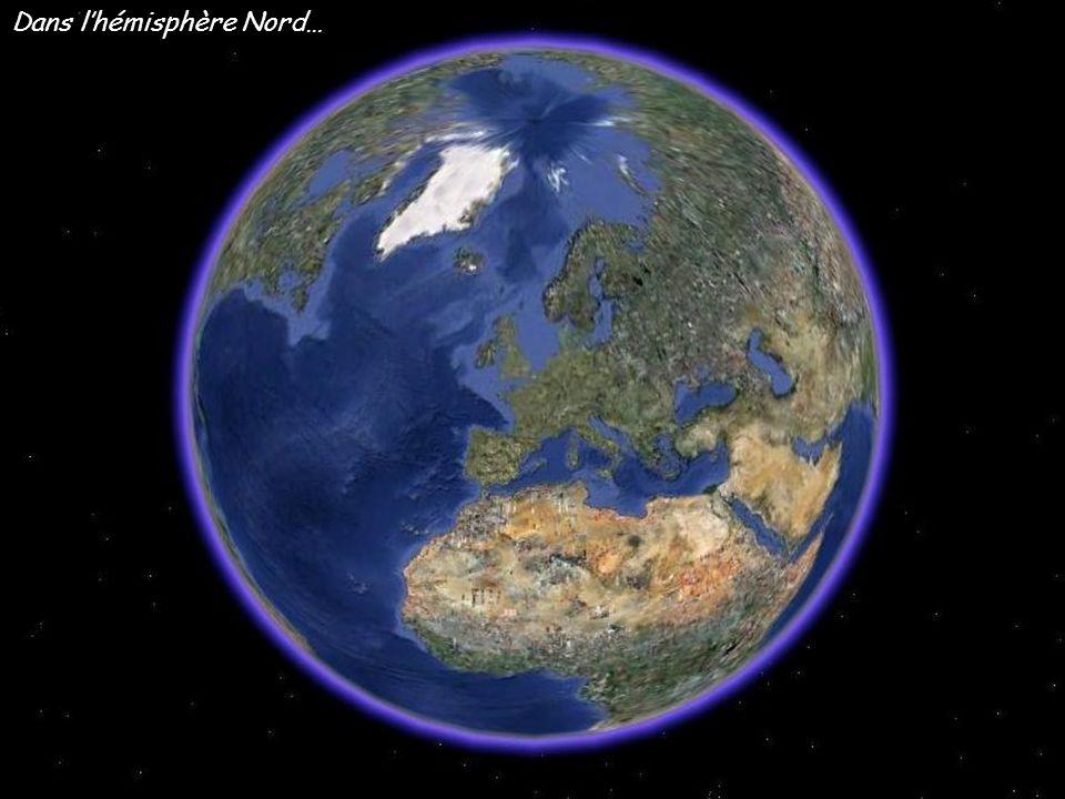 Dans lhémisphère Nord…
