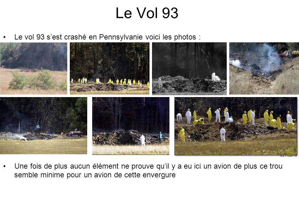 Le Vol 93 Le vol 93 sest crashé en Pennsylvanie voici les photos : Une fois de plus aucun élément ne prouve quil y a eu ici un avion de plus ce trou semble minime pour un avion de cette envergure