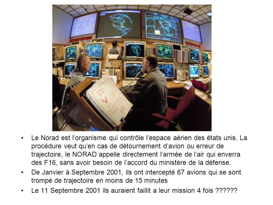Le Norad est lorganisme qui contrôle lespace aérien des états unis.