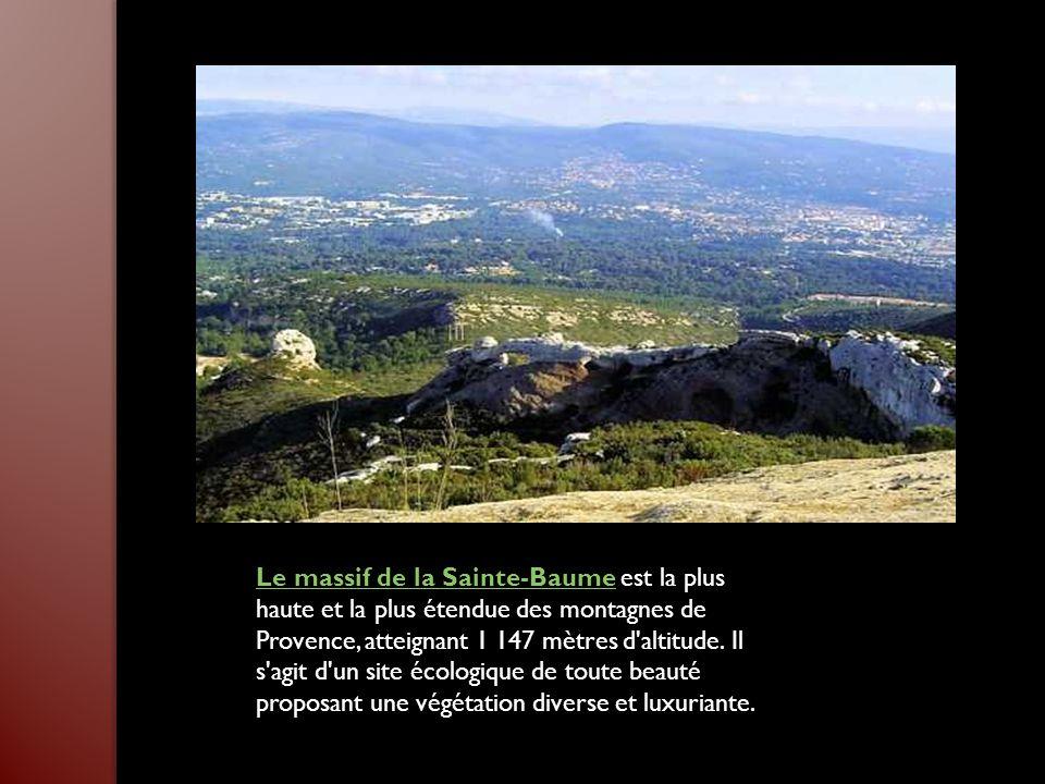 Le massif de la Sainte-BaumeLe massif de la Sainte-Baume est la plus haute et la plus étendue des montagnes de Provence, atteignant 1 147 mètres d altitude.