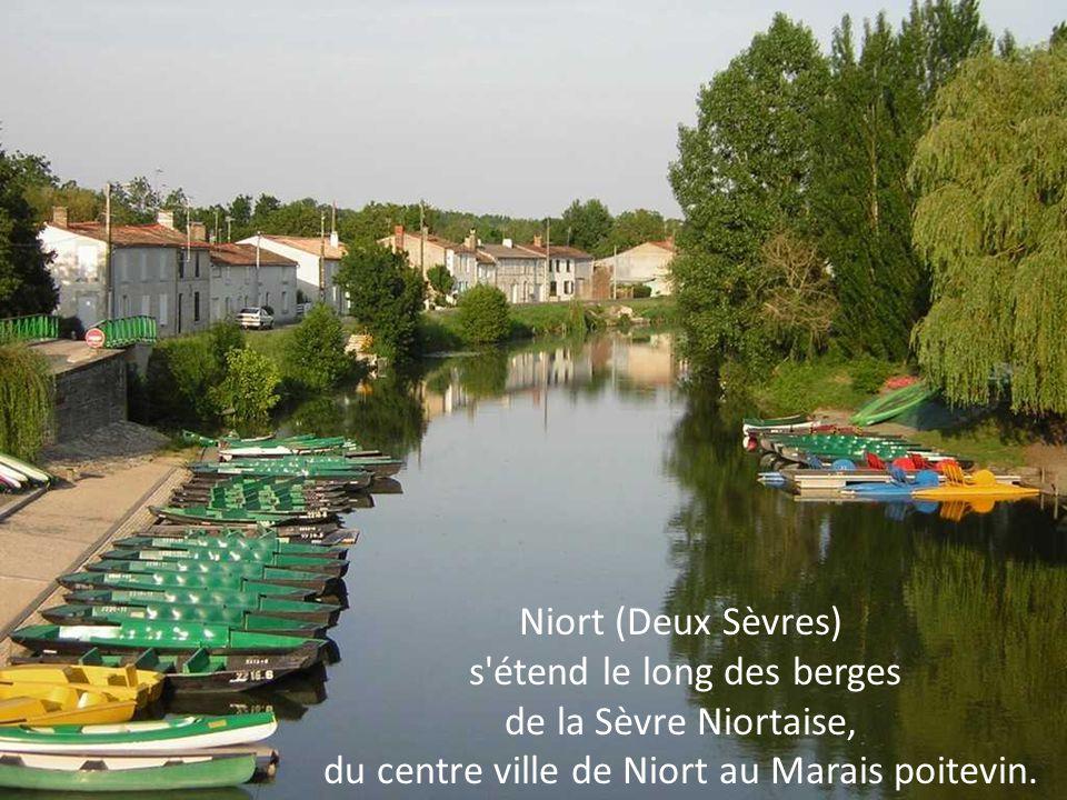 Niort (Deux Sèvres) s étend le long des berges de la Sèvre Niortaise, du centre ville de Niort au Marais poitevin.
