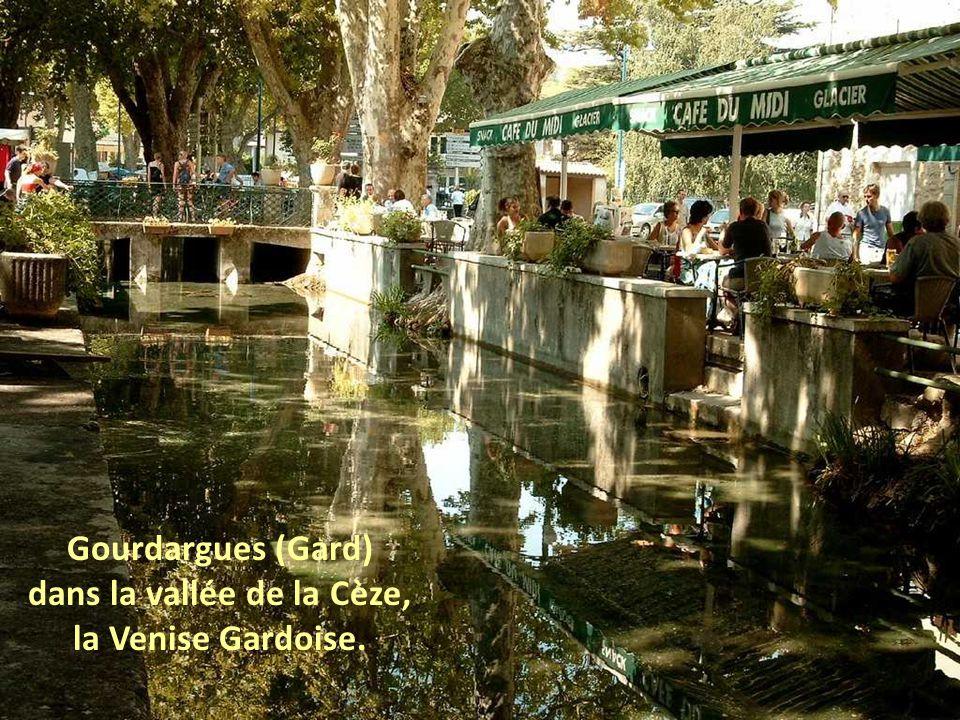 L Ile-sur-la-Sorgue (Vaucluse), marché flottant.