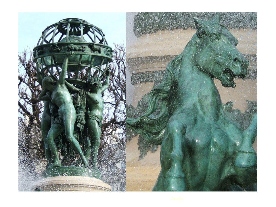 Fontaine des Quatre parties du Monde ou fontaine de lobservatoire ou encore fontaine Carpeau De Gabriel Davioud (vers 1880) Place Camille Jullian