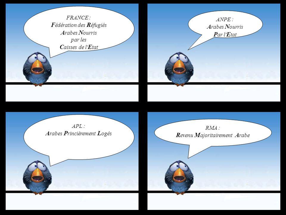 Qu'est ce qui distingue la France des autres pays arabes ???. C'est le seul pays arabe qui ne soit pas (encore) en guerre. Mohamed et Mouloud tombent