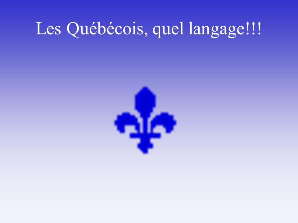 Les Québécois, quel langage!!!