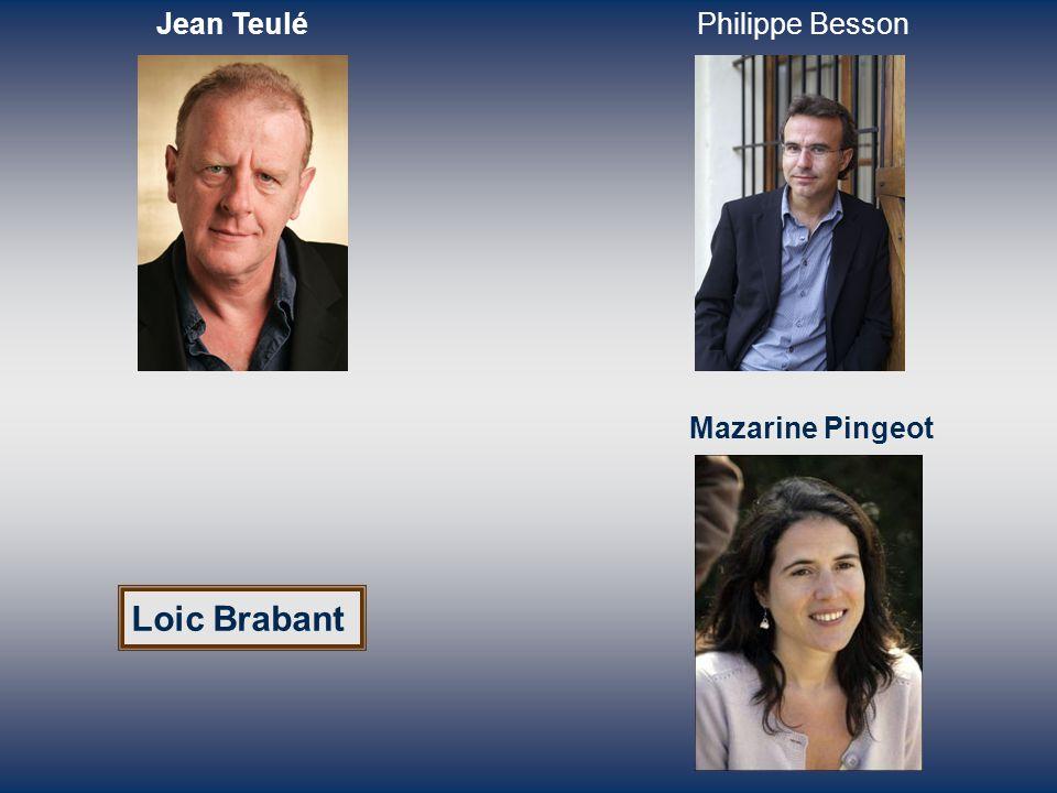 Loic Brabant Jean TeuléPhilippe Besson Mazarine Pingeot