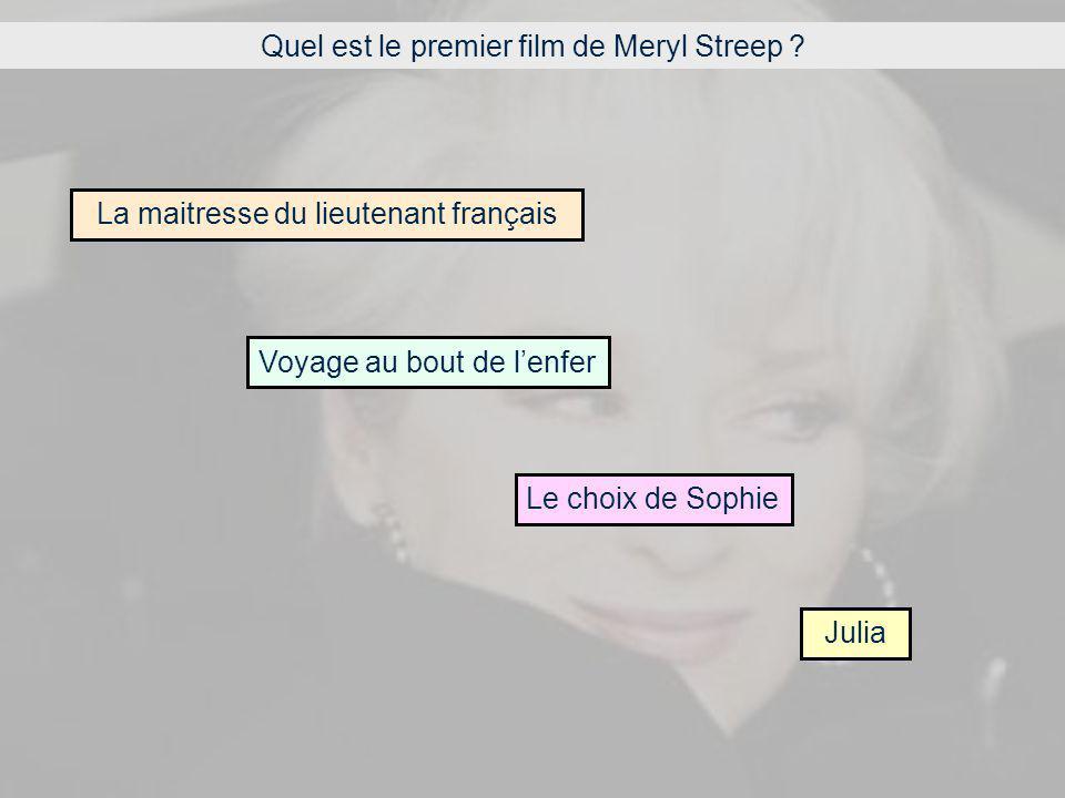 Quel est le premier film de Meryl Streep .