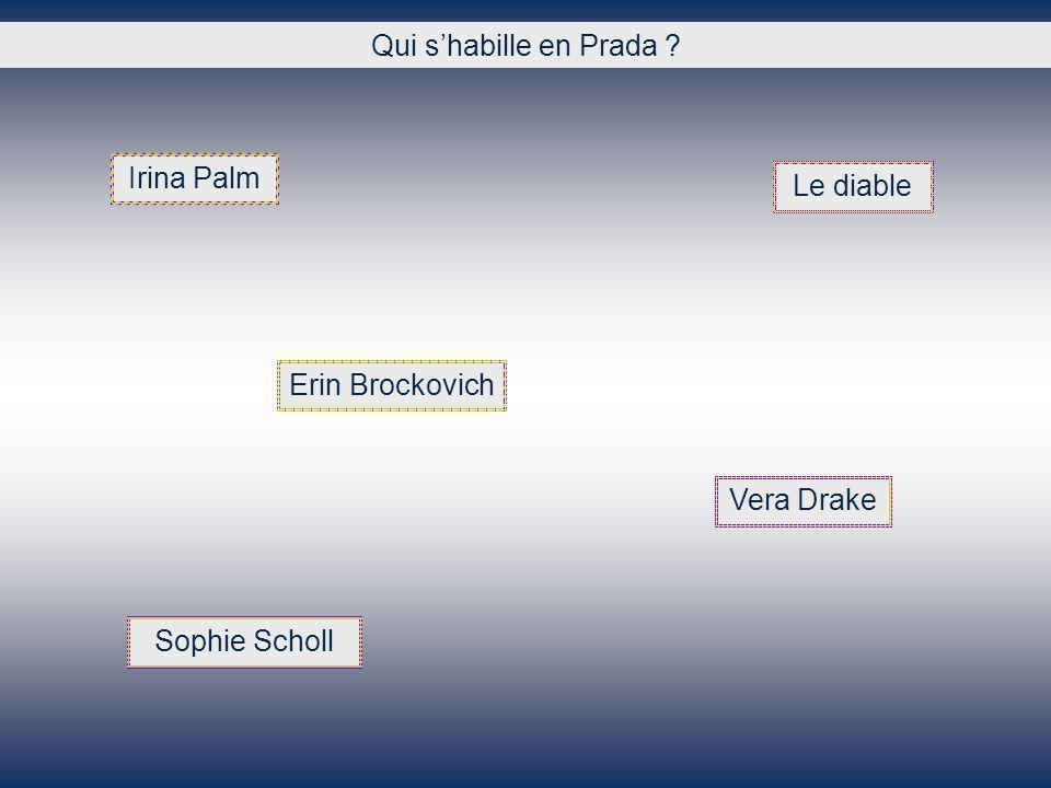 Qui shabille en Prada ? Irina Palm Le diable Erin Brockovich Vera Drake Sophie Scholl