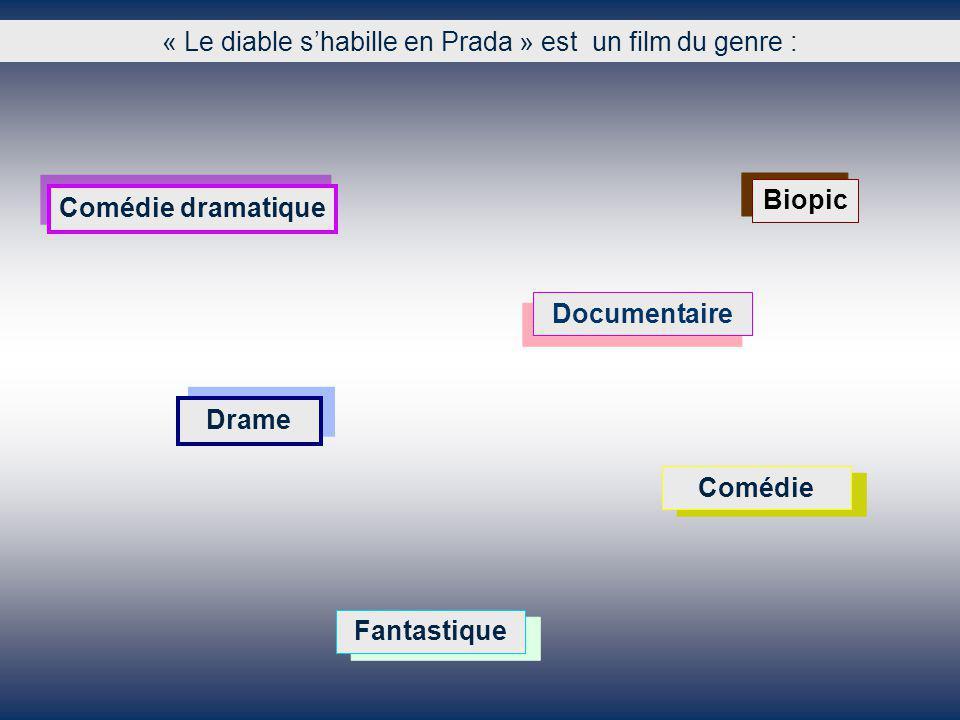 « Le diable shabille en Prada » est un film du genre : Documentaire Drame Fantastique Biopic Comédie dramatique Comédie