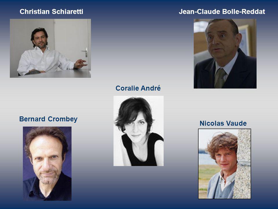 Christian SchiarettiJean-Claude Bolle-Reddat Bernard Crombey Nicolas Vaude Coralie André