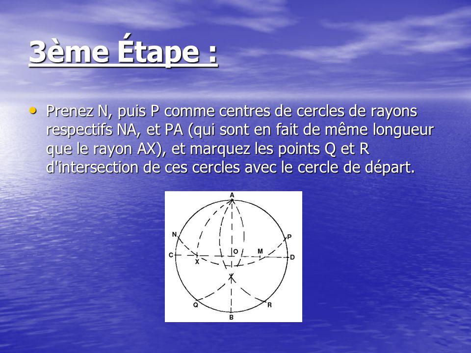 4ème Étape : Effacez les traits inutiles, pour ne garder que les points A, N, P, Q et R, et joignez les par des droites comme indiqué sur le schéma ci-dessous : Effacez les traits inutiles, pour ne garder que les points A, N, P, Q et R, et joignez les par des droites comme indiqué sur le schéma ci-dessous :