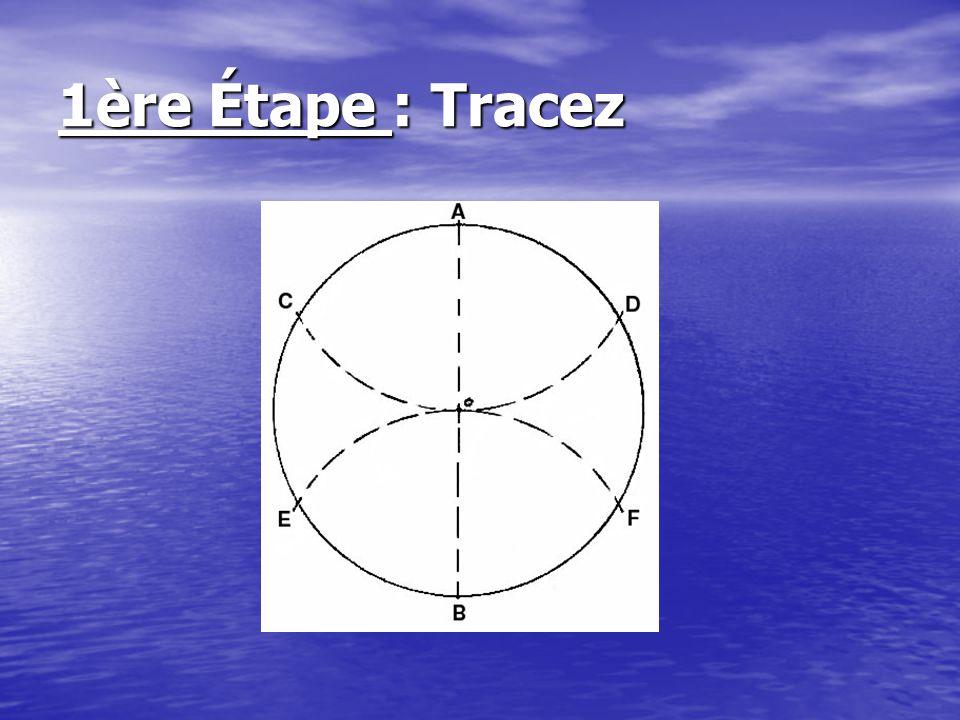 2ème Étape : Effacez les traits superflus, et joignez A, E et F ensemble, et B, C D ensemble.