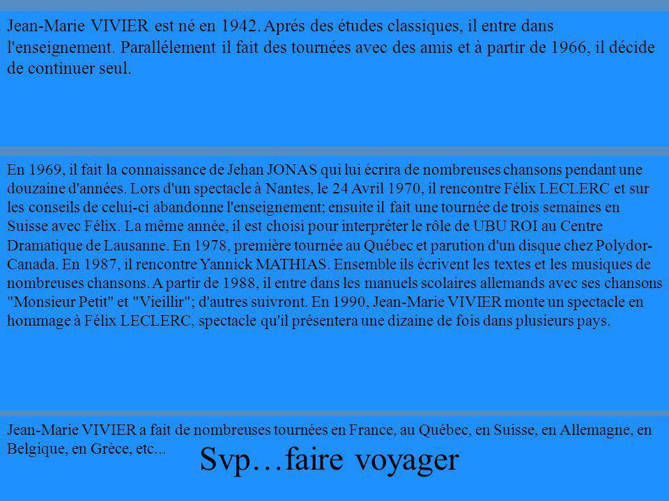 http://jeanmarievivier.free.fr/ Suite