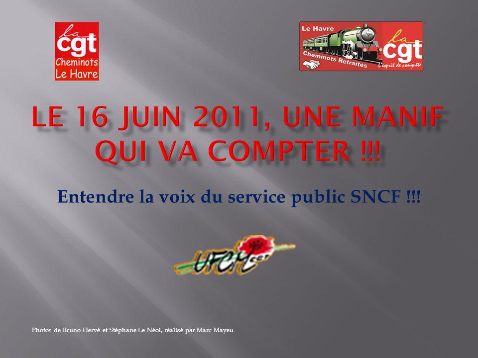 Entendre la voix du service public SNCF !!.
