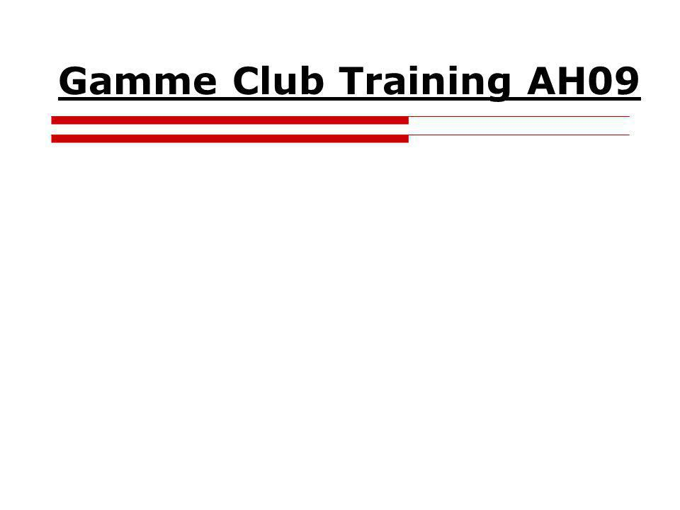 Gamme Club Training AH09