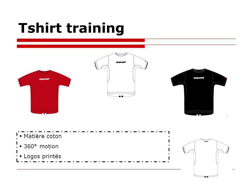 Tshirt training Matière coton 360° motion Logos printés