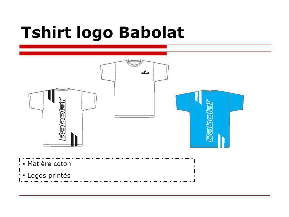 Tshirt logo Babolat Matière coton Logos printés