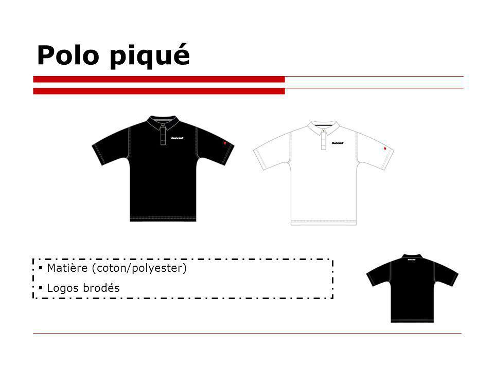 Polo piqué Matière (coton/polyester) Logos brodés