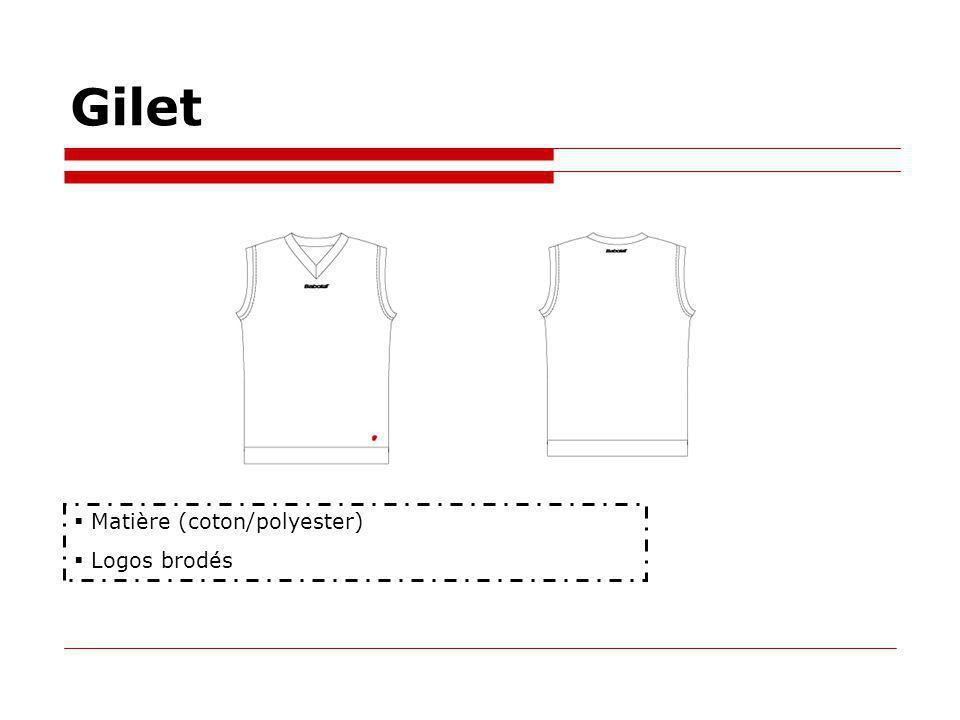 Gilet Matière (coton/polyester) Logos brodés