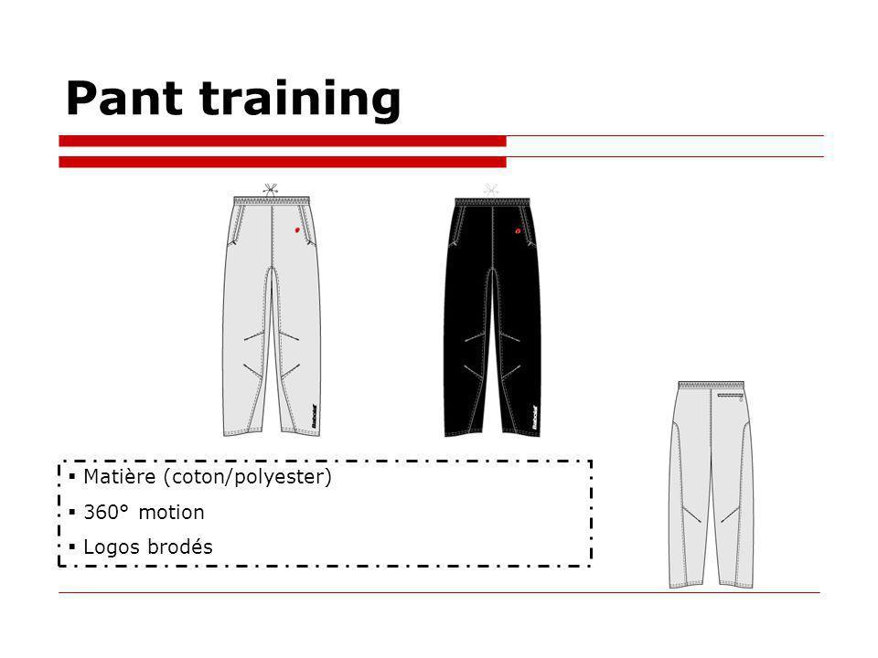 Pant training Matière (coton/polyester) 360° motion Logos brodés