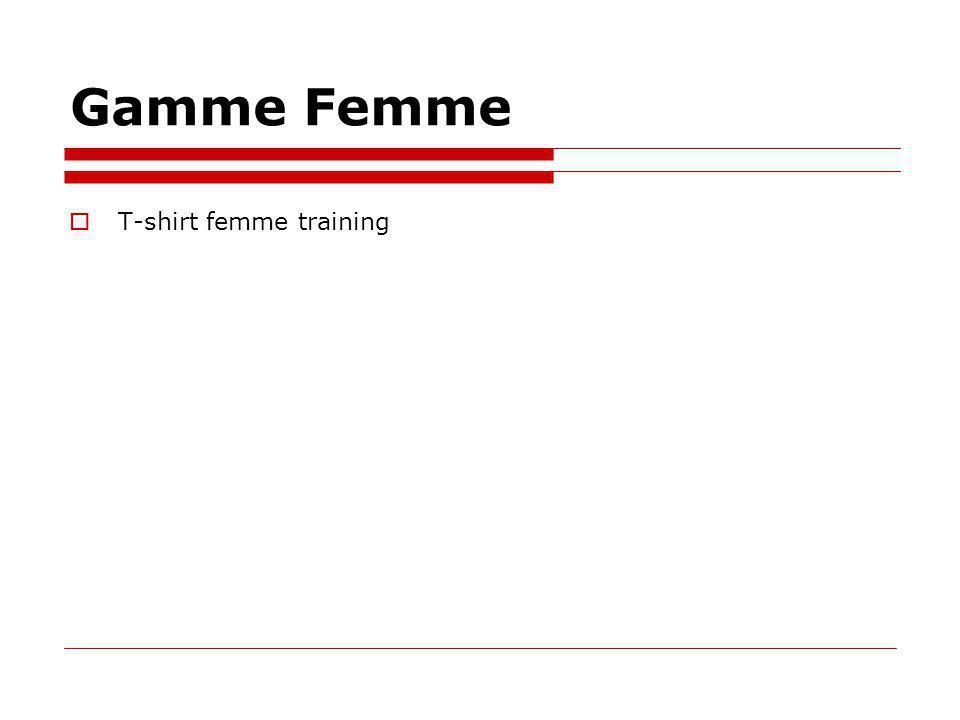 Gamme Femme T-shirt femme training