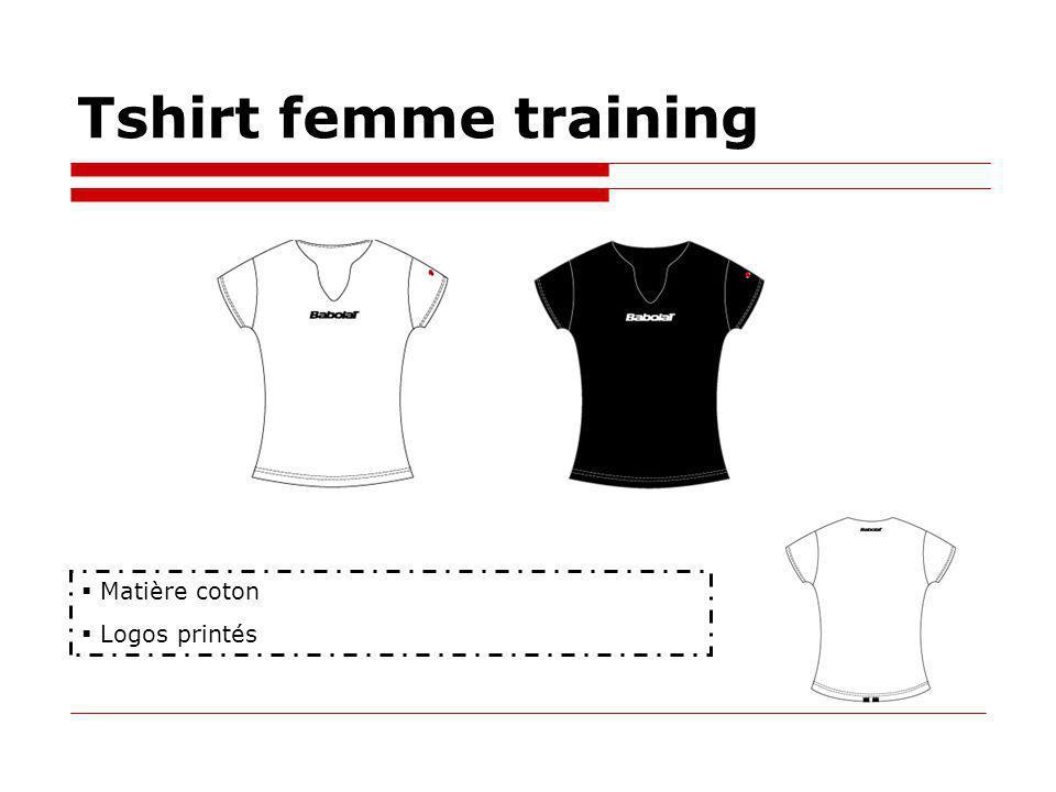 Tshirt femme training Matière coton Logos printés