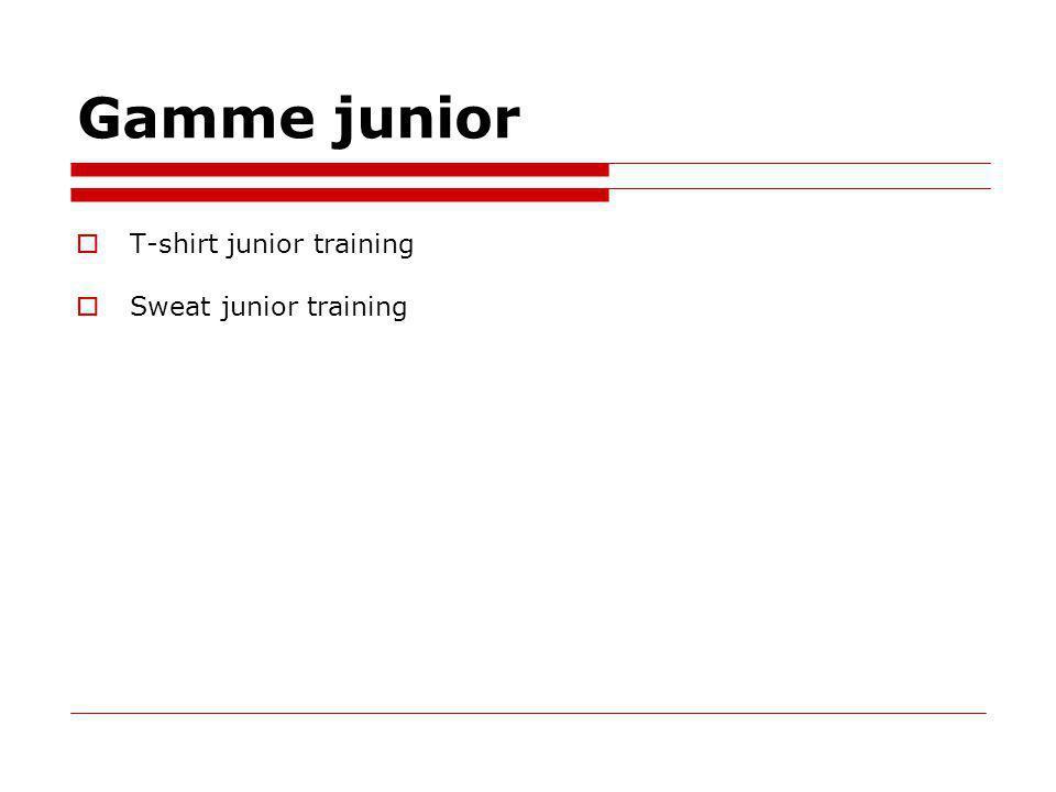 Gamme junior T-shirt junior training Sweat junior training