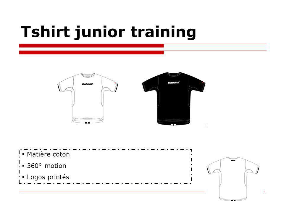 Tshirt junior training Matière coton 360° motion Logos printés