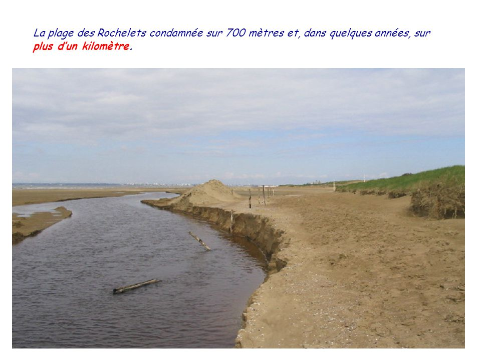 Lexutoire du Boivre sur la plage des Rochelets à Saint-Brévin lOcéan