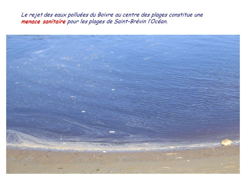 Le rejet des eaux polluées du Boivre au centre des plages constitue une menace sanitaire pour les plages de Saint-Brévin lOcéan.