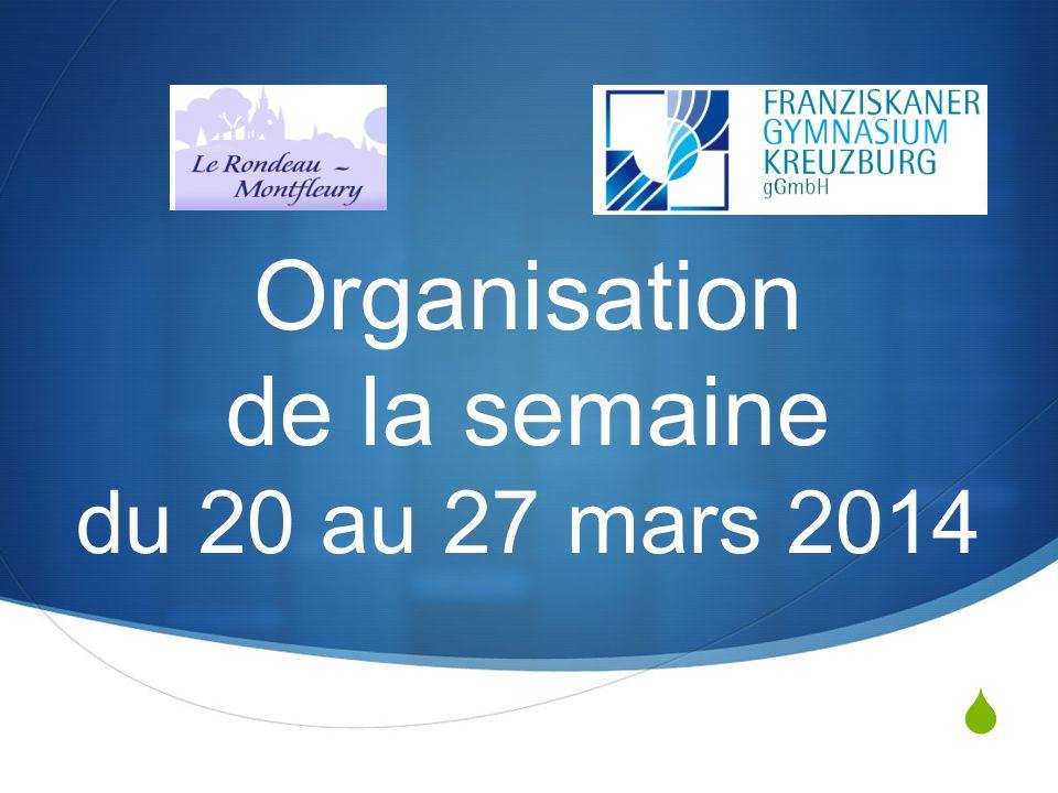 Jeudi 20 Mars 2014 A 17h05, les élèves restent au Rondeau sous ma responsabilité Arrivée des allemands vers 18h00 SMS Groupé