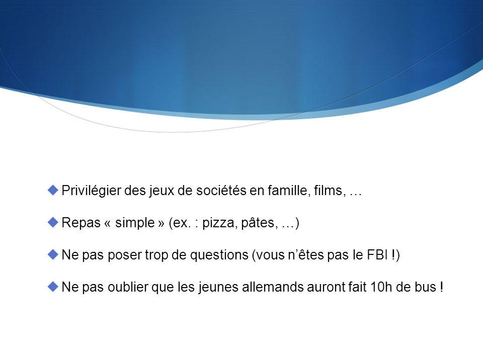 http://www.fgkb.eu Privilégier des jeux de sociétés en famille, films, … Repas « simple » (ex.