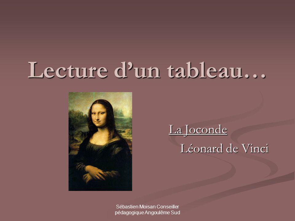 Sébastien Moisan Conseiller pédagogique Angoulême Sud Lecture dun tableau… La Joconde Léonard de Vinci