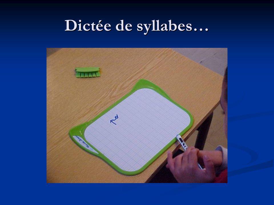 Dictée de syllabes…