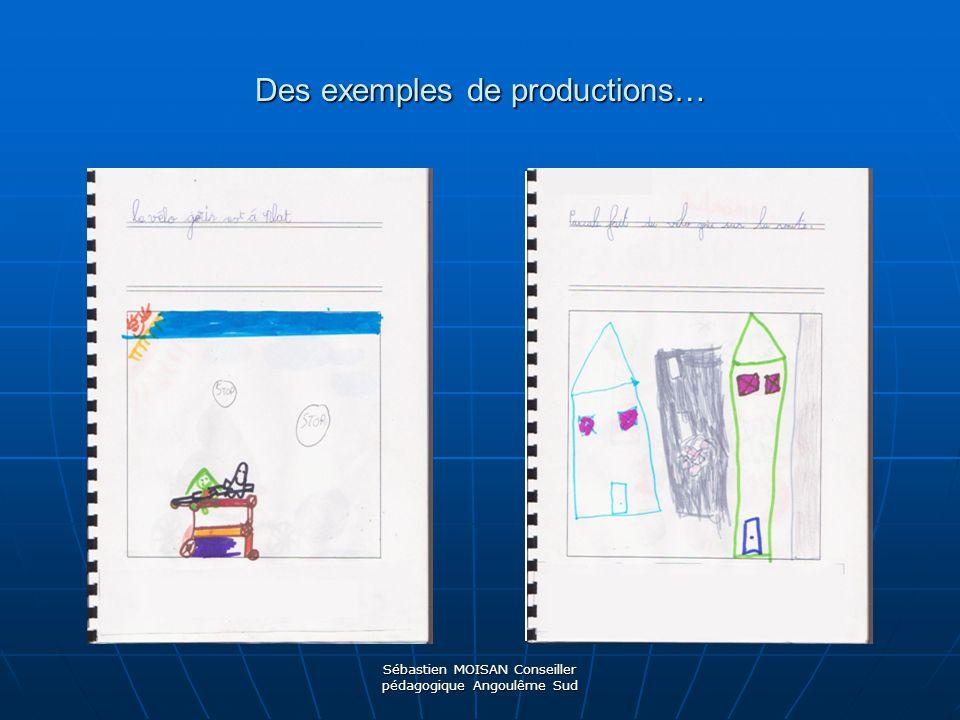 Sébastien MOISAN Conseiller pédagogique Angoulême Sud Durant la pause méridienne, le maître tape les productions des élèves et les imprime.