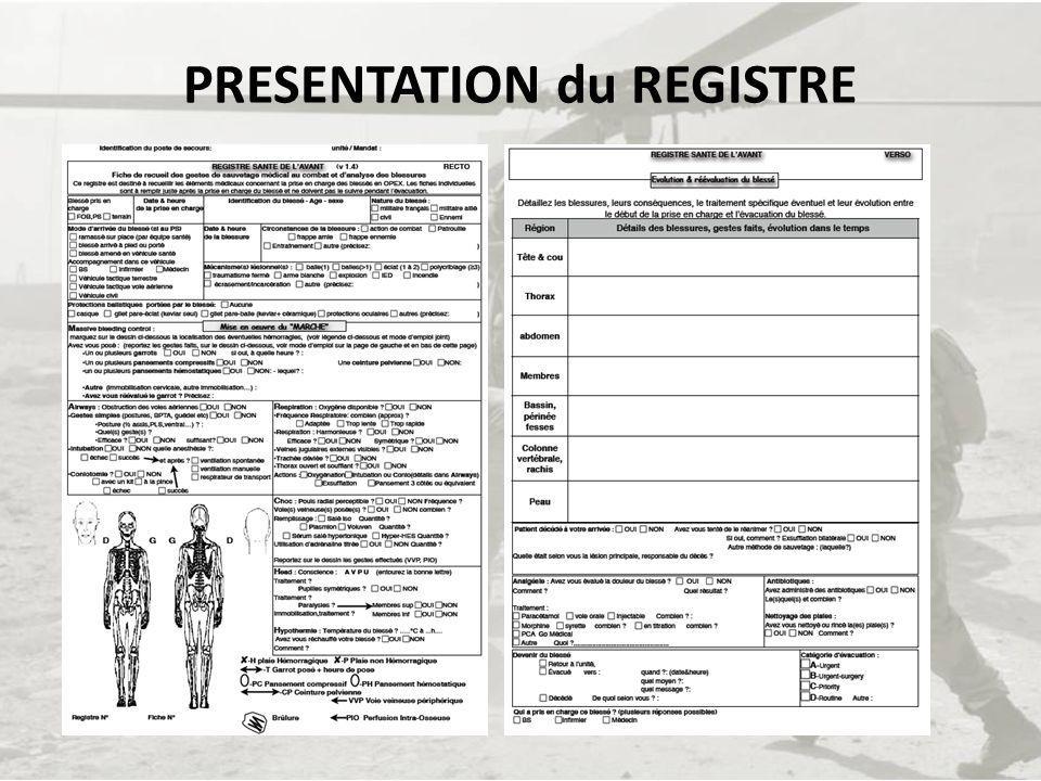 PRESENTATION du REGISTRE