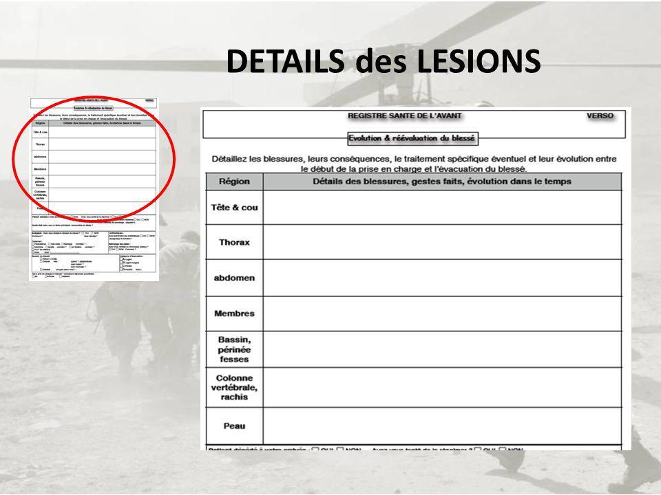 DETAILS des LESIONS