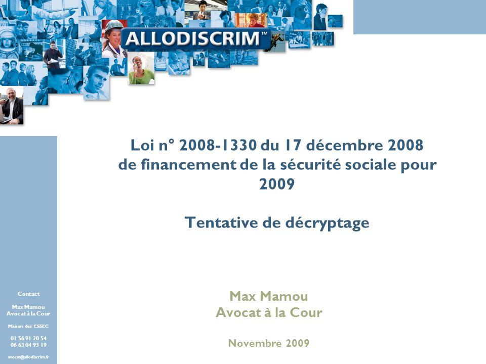 Offres Partenaires FACE Paris - 2009 Contact Max Mamou Avocat à la Cour Maison des ESSEC Paris 01 56 91 20 54 06 63 04 93 19 avocat@allodiscrim.fr Con