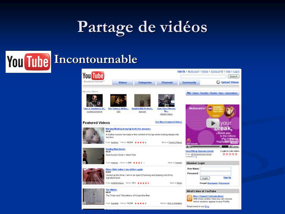Partage de vidéos Incontournable Incontournable