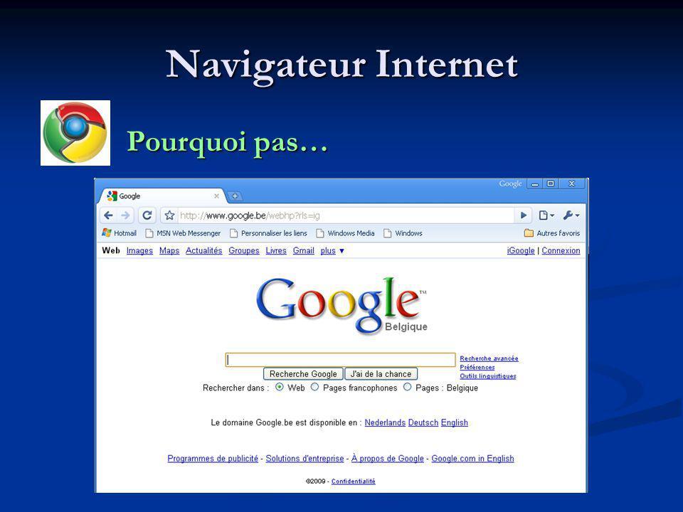 Navigateur Internet Pourquoi pas… Pourquoi pas…