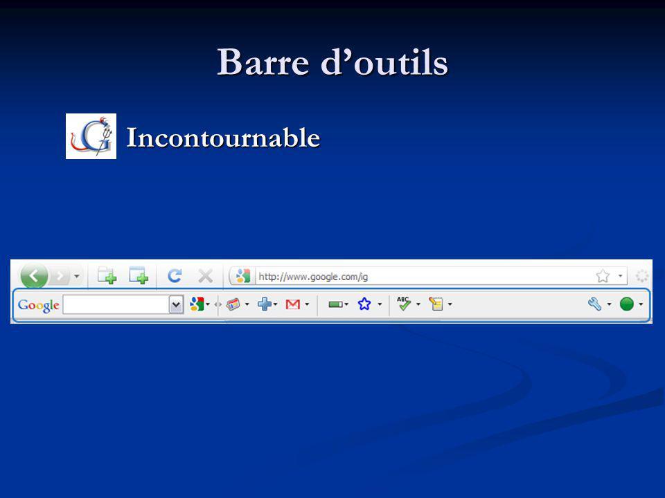 Barre doutils Incontournable Incontournable