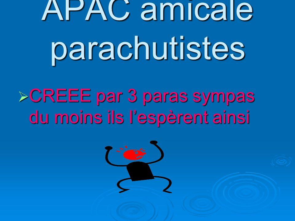 Ils souhaitent garder les valeurs des parachutistes AMITIE- FRATERNITE AMITIE- FRATERNITE