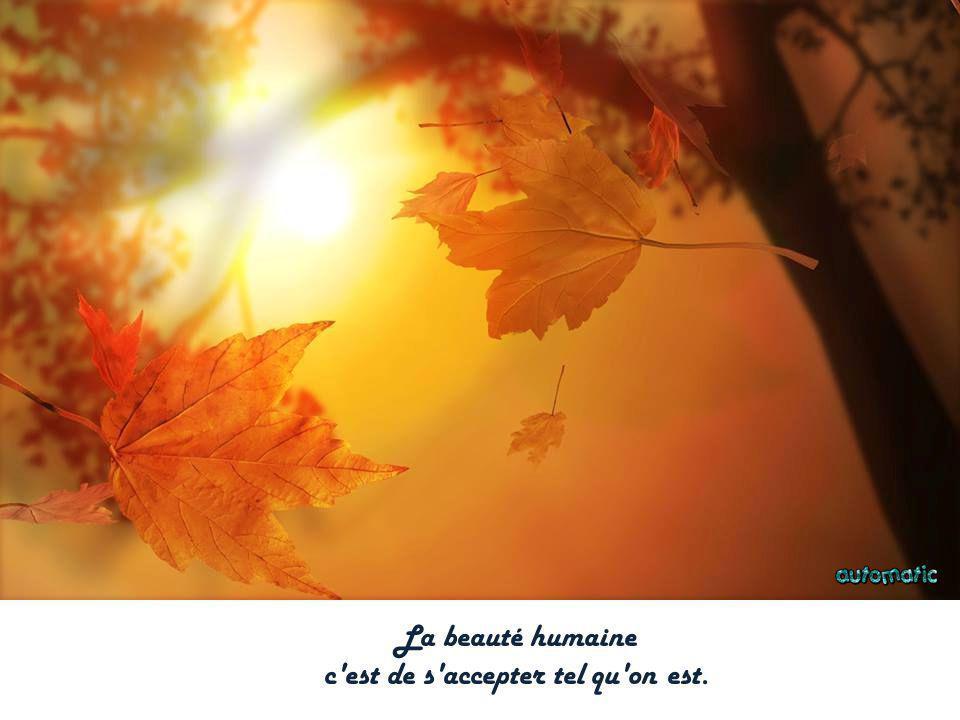 La beauté humaine c est de s accepter tel qu on est.