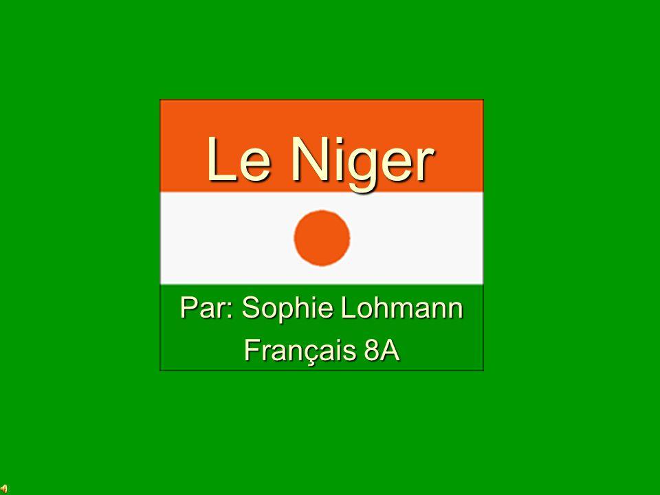 Le Niger Par: Sophie Lohmann Français 8A