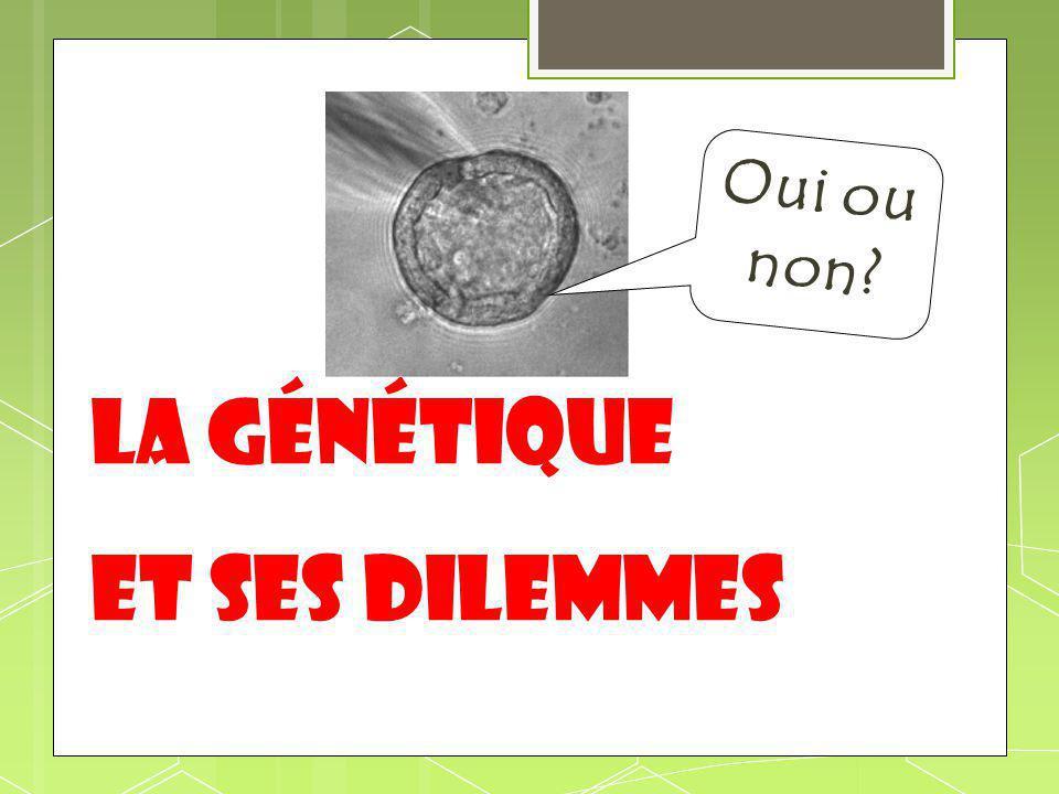 La génétique et ses dilemmes Oui ou non?